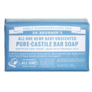 Dr. Bronner's, Orgaaniline, lõhnatu seep beebidele, 140g