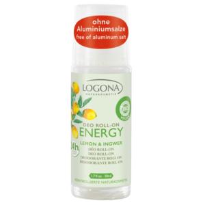 Logona, ENERGY deodorant roll-on sidrun ja ingver, 50ml