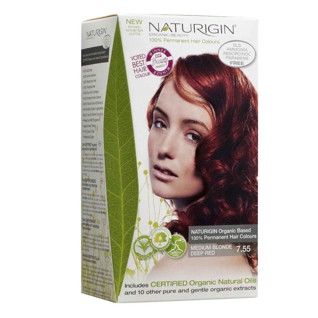 Naturigin Permanent Hair Color Medium Blonde Deep Red 755